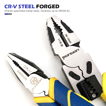 QUK Electrician Pliers Wire Cutter Cable Stripping Crimping Tool Industrial Grade Multitool Household DIY Repair Hand Tools 3