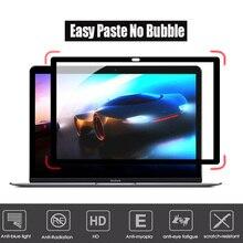 Легкая паста без пузырьков экраны защитная пленка черная рамка для позднего 2012/2013//начала MacBook Pro retina 15,4 дюймов