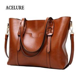 Image 1 - ACELURE Vintage sac à bandoulière en cuir synthétique polyuréthane pour femmes femme grand fourre tout sac à main affaires femmes messager sac à bandoulière pour femmes bolsas