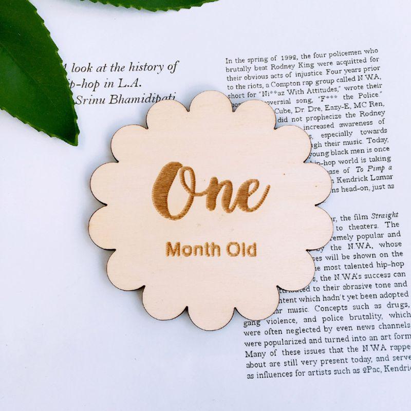12 Pcs/set Baby Birth Month Number Birthday Commemorative Milestone Card Newborn Full Moon Photography Props