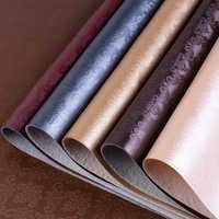Lychee Life motif fleur damas PU tissu en cuir synthétique coloré 50cm x 137cm Faux cuir bricolage matériel de couture