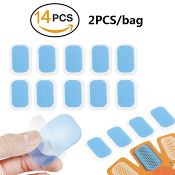14Pcs Hydrogel Sticker Patch For AbS EMS Abdominal Stimulator  Hip Trainer Toner Trimmer Belt Replacement Pads Vibration Fitness