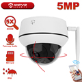 Anpviz 2MP/3MP/5MP IP WiFi PTZ Камера 5X зум в помещении/на открытом воздухе Беспроводной безопасности Камера двухканальную аудиосвязь микрофон Динамик ...