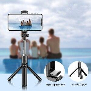 Image 5 - Mobile phone tripod portable bluetooth selfie stick for camera Foldable Mini smartphone selfie stick tripod photograph monopod