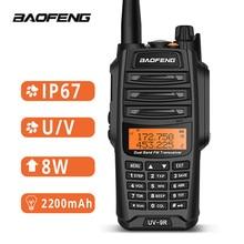 Baofeng UV 9R עמיד למים ווקי טוקי IP67 8W שתי בדרך רדיו תחנת UHF VHF BF A58 חיצוני ווקי טוקי