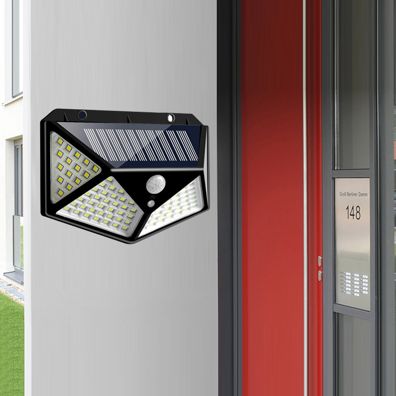 PIR Motion Sensor Solar Outdoor Light with 114 to 100 LED and Lithium Battery Powered by Sunlight 5