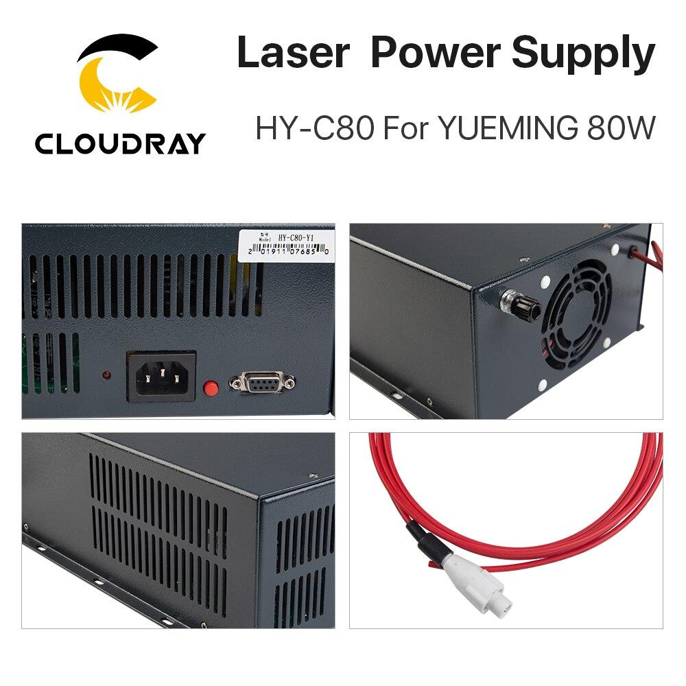 Cloudray HY-C80 CO2 lézer tápegység 80W YUEMING gravírozó / - Famegmunkáló gépek alkatrészei - Fénykép 4