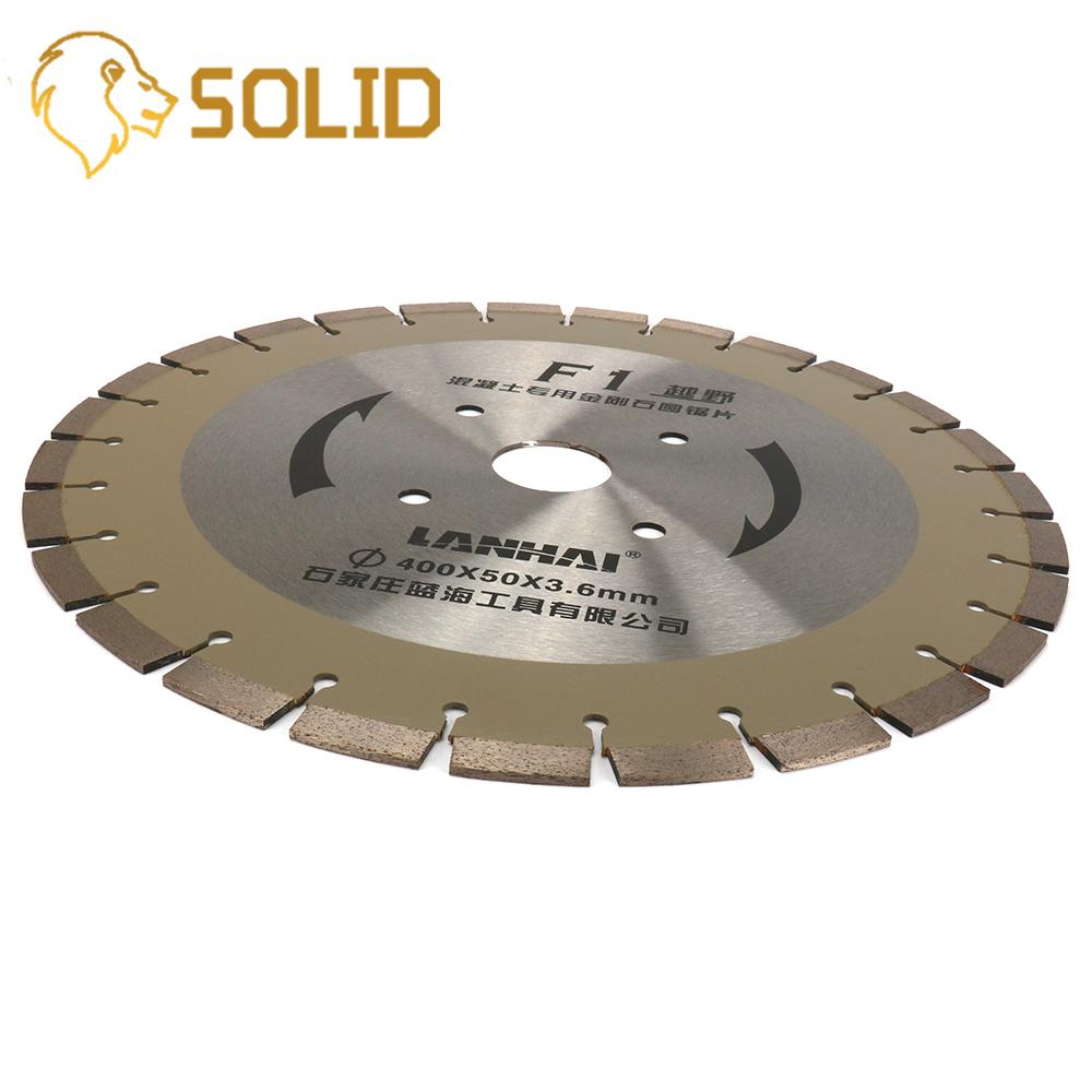 Diamond Circular Saw Blade 400X50X3.6mm Welded Diamond Saw Blade Brazed for Granite Marble Concrete Road