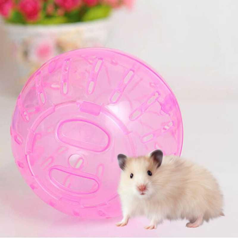 新しい小型ペット実行は、ボールのおもちゃホームハムスター透明ランニングボール 10 センチメートルジョギングペットチンチラモルモットミニトロットボール