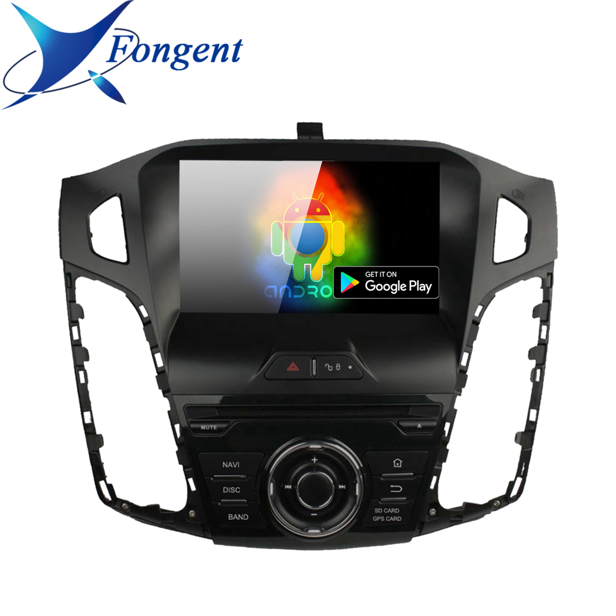 Android Car DVD For <font><b>Ford</b></font> 2011 2012 2013 2014 2015 2016 <font><b>2017</b></font> 2018 <font><b>Focus</b></font> Auto Audio Video Radio FM RDS Stereo WiFi GPS <font><b>Navigation</b></font> image