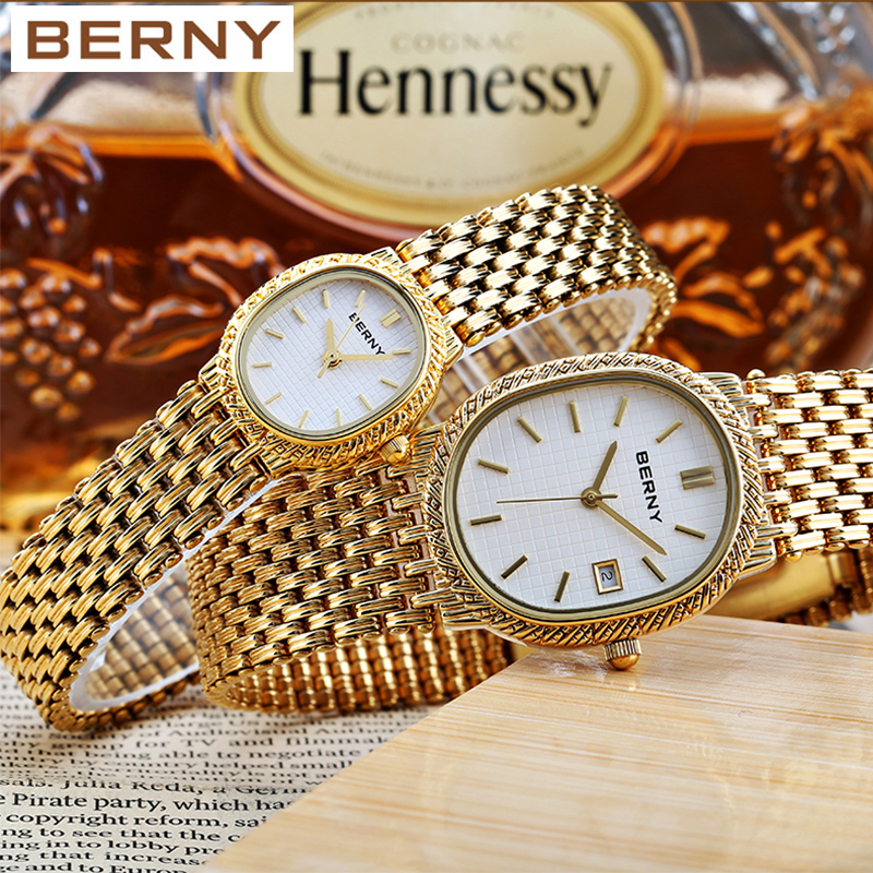 18K Gold Banquet Lady Wrist Watch  Feast  Women Lover Watch Christmas Gift Fashion Present Japan Quartz Water Resistant 2146L