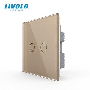 Image 2 - Livolo настенный светильник с сенсорным выключателем, 220 В, черная стеклянная панель, дистанционные беспроводные выключатели, Затемняющая занавеска, управление таймером