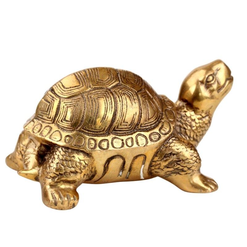 The Copper Tortoise Turtle Longevity Home Furnishing Figurine Rich Crafts Decoration Symbolize Wealth Animal Figurine Statue