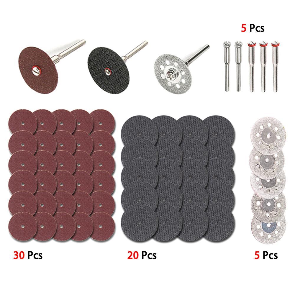 60Pc Diamond Cutting Wheel HSS Circular Saw Blades Resin Cut Off Disc Wood Working Metal Dremel Mini Drill Rotary Tool Accessory