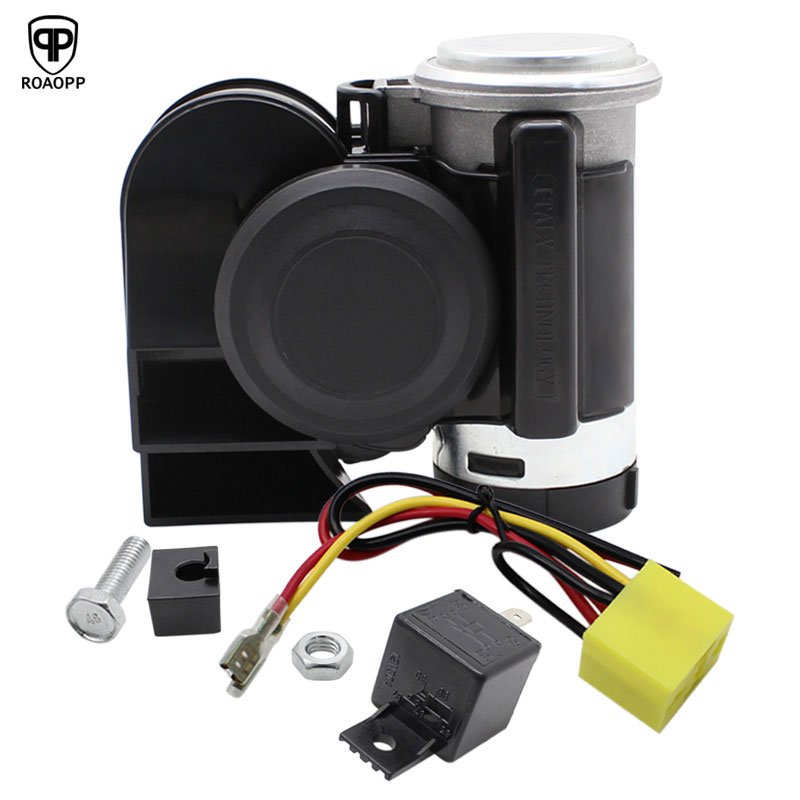 Universal Motorcycle Electric Horn Kit Signal 12V 125db Waterproof Super Loud Horn Loud Speakers For Scooter Moped Dirt Bike ATV