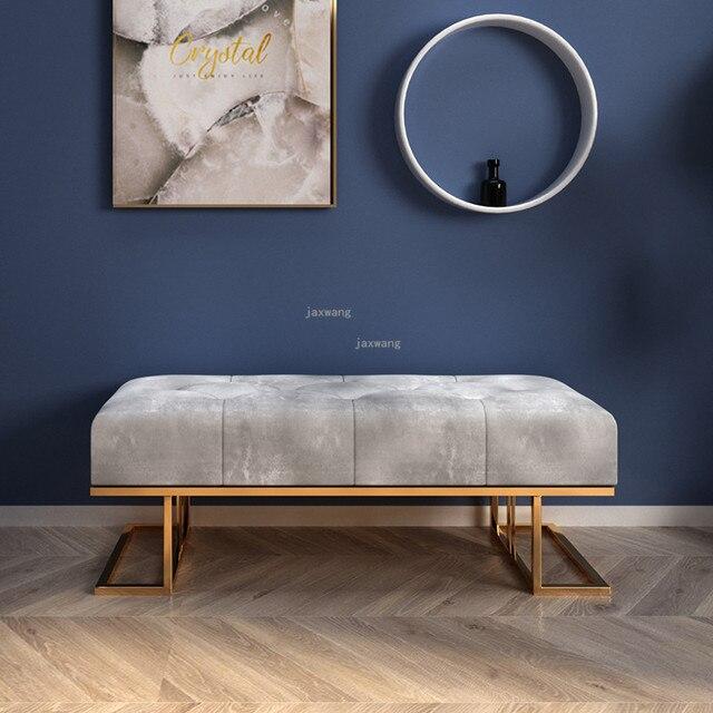 Light Luxury  Sofa Long Bench 3