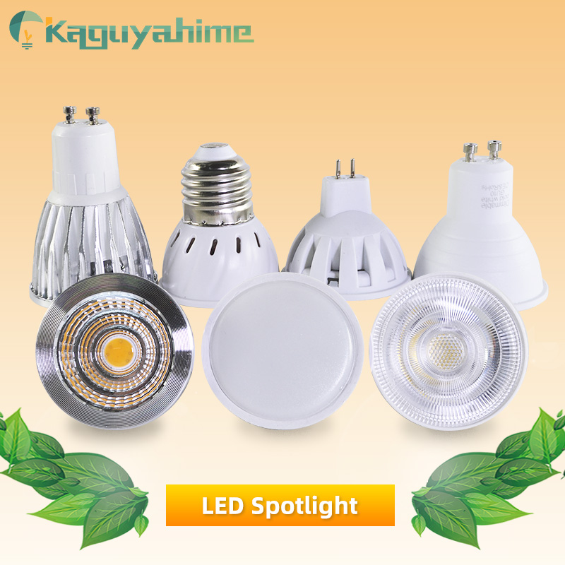 Kaguyahime LED GU10 Lamp MR16 LED Bulb E27 E14 7W 6W 5W 3W AC 220V Lampada Aluminum Energy Saving Home Lighting LED Spotlight