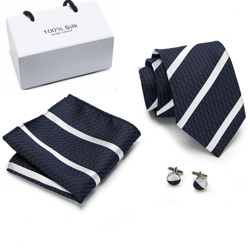 100%Silk Tie For men  Paisley Floral Ties for Men Set and Handkerchiefs Fashion Designer Business Wedding Mens
