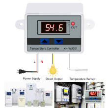 Digital LED Temperature Controller untuk Inkubator Cooling Heating Thermostat NTC Sensor Suhu Controller(China)
