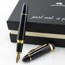 Перьевая ручка Jinhao 159, высокое качество, роскошный Металл, большой размер, уникальный стиль, средний, 0,5 перо, тяжелый бизнес, офис, подарок, че...
