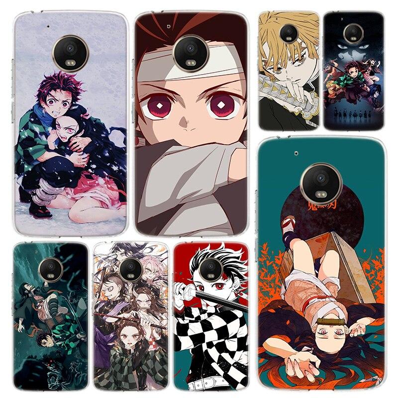Demon Slayer Kimetsu No Yaiba Phone Case Cover For Motorola Moto G8 G7 G6 G5 G5S G4 E6 E5 E4 Power Plus Play One Action Macro Vi