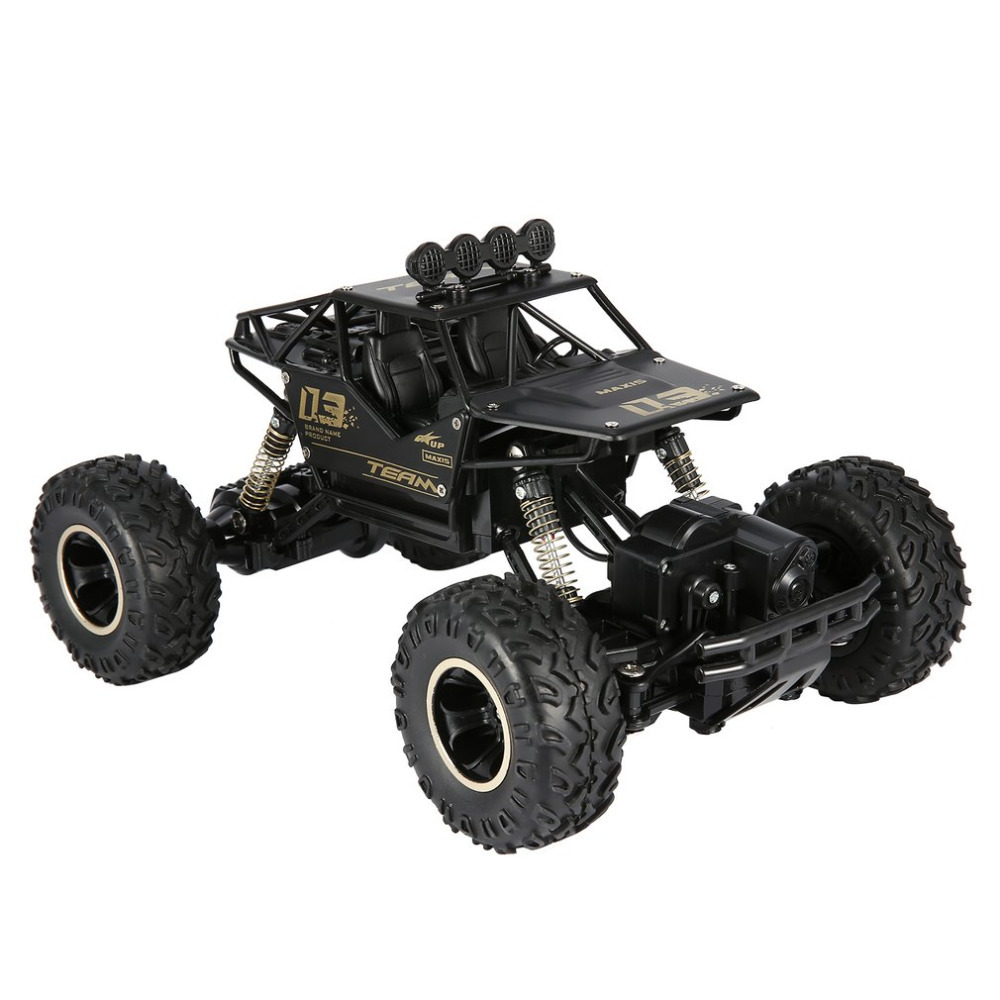 1/16 2.4GHz Alloy Body Shell Rock Crawler 4WD Double Motors Off-road RC Car Remote Control Buggy Bigfoot Climbing Vehicle Toys