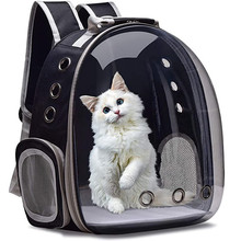 Cat Carrier Bag Pack Breathable Pet Transparent Backpack Small Cat Travel Space Capsule Cage Pet Transport Bag Carrying For Cats