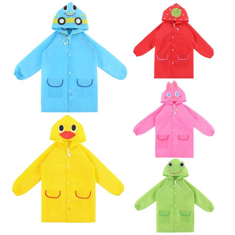 1Pc Cute Animal Shape Children Raincoat Cartoon Student Poncho Rainwear Rain Gear New