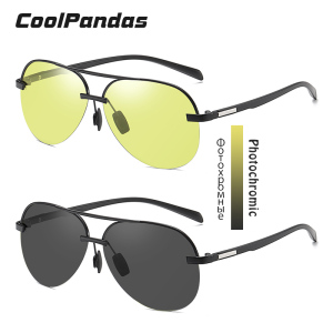 Image 2 - Brand Aviation Safety Driving Photochromic Polarized Sunglasses Men Day Night Vision Driving Sun Glasses oculos de sol masculino