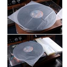 50 sztuk CD Protecter LP rekord plastikowa torba płyta winylowa przezroczysty pokrowiec pojemnik CD wewnętrzna torba kompatybilny dla 30cm 25cm 12cm CD tanie tanio Foxnovo