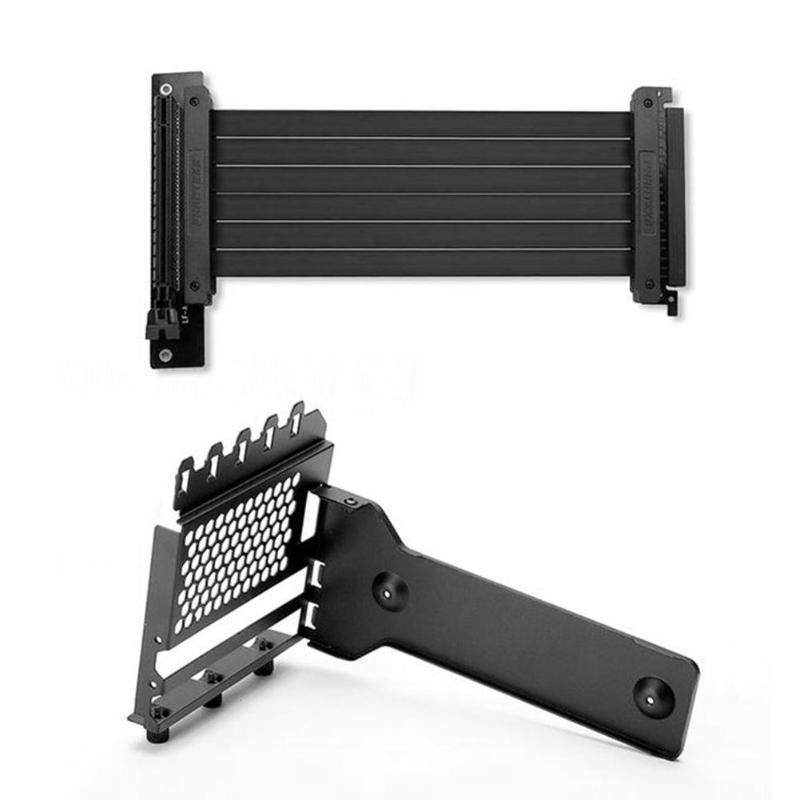 Graphics Card Holder Stand Metal Video Card Extension Mounting Bracket with graphics extension cable for 7 PCI Chassis PC Case