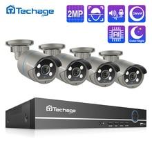 H.265 POE CCTV מערכת 8CH 1080P NVR ערכת 2MP אודיו שיא AI IP מצלמה IR חיצוני עמיד למים P2P וידאו אבטחת מעקב סט
