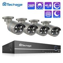 H.265 POE CCTV sistemi 8CH 1080P NVR kiti 2MP ses kayıt AI IP kamera IR açık su geçirmez P2P Video güvenlik gözetleme seti