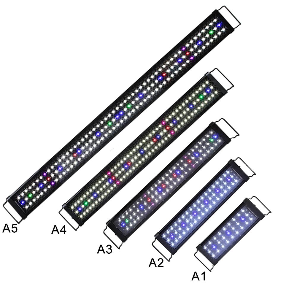 30CM 45CM 60 CM, 90CM 120CM negro Luz de acuario LED espectro completo para los peces de agua dulce tanque planta marina 55cm poste de barbería de iluminación rojo blanco azul de la raya de luz rayas señal pelo pared led colgante Downlights