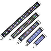 30CM 45CM 60CM 90CM 120CM Black LED Aquarium Light Full Spectrum for Freshwater Fish Tank Plant Marine