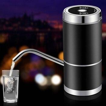 Bomba de botella de agua, USB de poco ruido de carga bomba de agua potable automática para botella Universal de 5 galones inalámbrica y portátil para el hogar      -