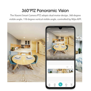 Image 2 - Xiaomi PTZ 2K akıllı kamera 360 derece panoramik 3MP IP kamera ev güvenlik kamera monitör gece görüş Video kamerası akıllı kamera