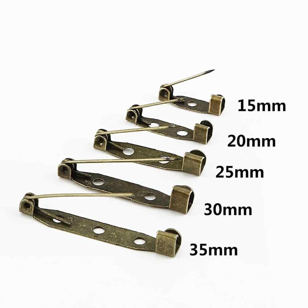 10-50Pcs 15/20/25/30/35mm broszka spinka baza szpilki agrafki broszka ustawienia pusta podstawa dla DIY elementy do wyrobu biżuterii