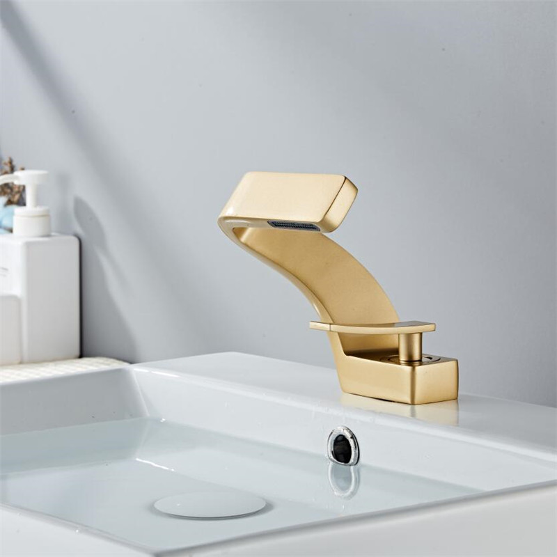 Tuqiu Basin Faucet Modern Black Bathroom Mixer Tap Brushed Gold Nickel Chrome Wash basin Faucet Hot Tuqiu Basin Faucet Modern Black Bathroom Mixer Tap Brushed Gold/Nickel/Chrome Wash basin Faucet Hot and Cold Sink Faucet New