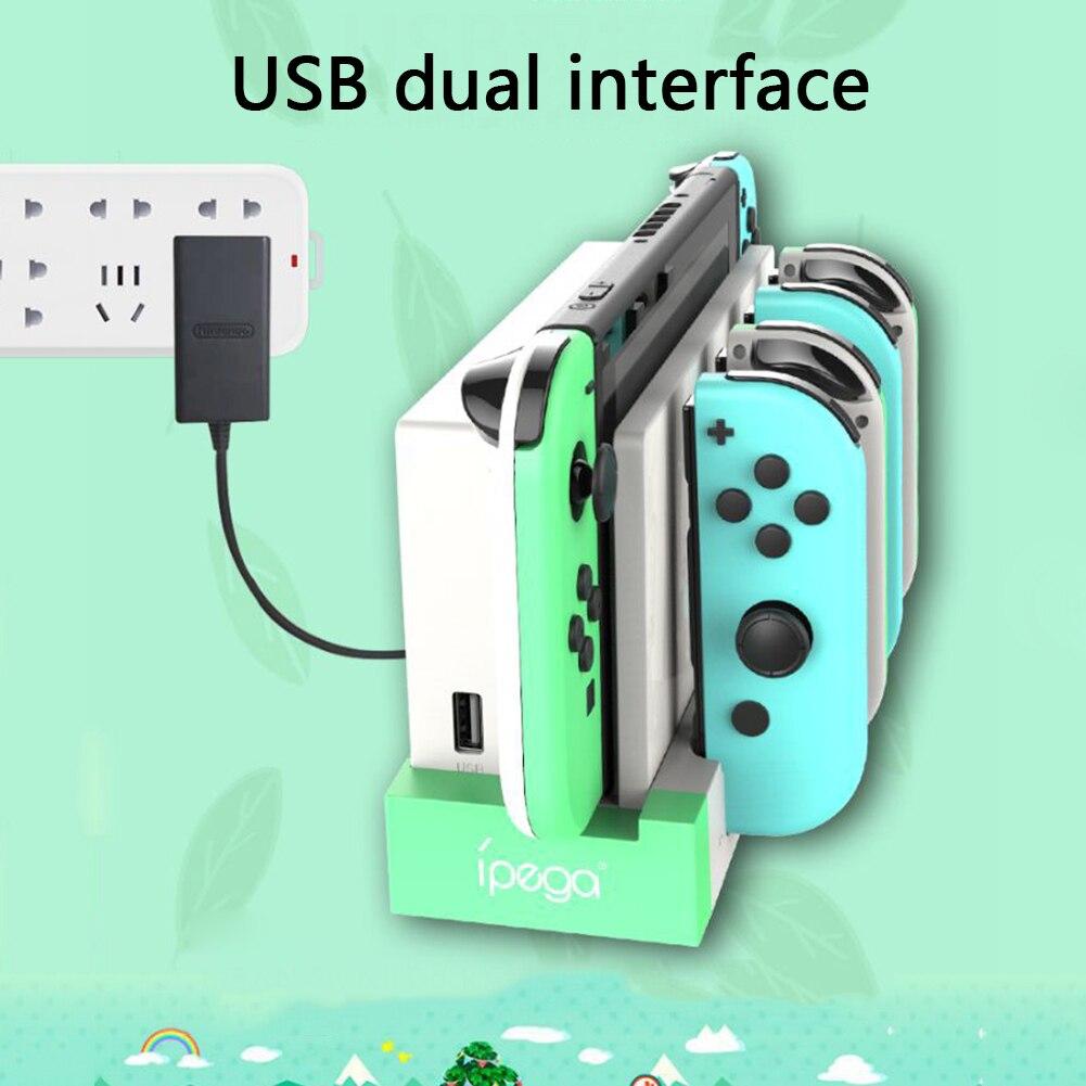 PG-9186A de carga para mando a distancia, para Nintendo Switch, Joy Con, para Switch Pro, cargador para mando a distancia
