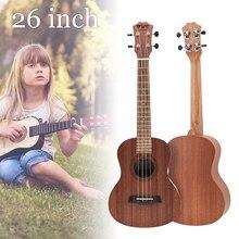 21 / 23 / 26 Inch Ukulele 4 Nylon Strings Musical Instruments Mahogany Hawaiian Tenor Ukulele Acoustic Cutaway Guitar