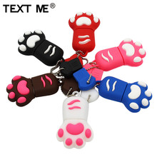 TEXT ME cartoon 64GB brown pink black blue colour Cat claw usb flash drive usb 2.0 4GB 8GB 16GB 32GB pendrive gift usb