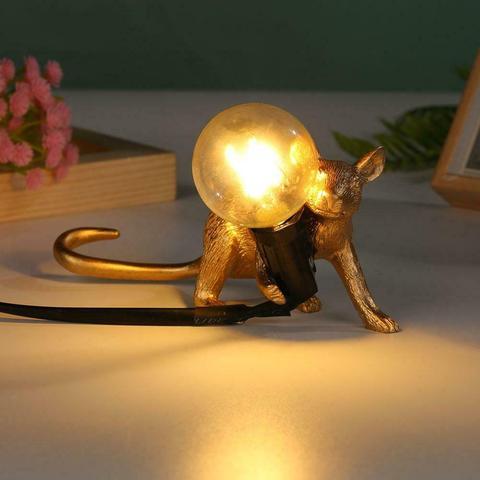 dourado bonito conduziu lampada de mesa decoracao sua casa luzes