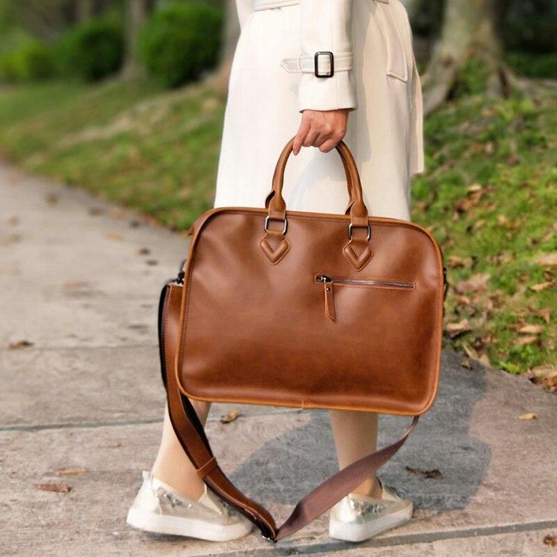 Vintage Women Satchels Bag Horizontal Literary Girls' Handbag Big Shoulder Bag Dress OL Fashion Casual Briefcase