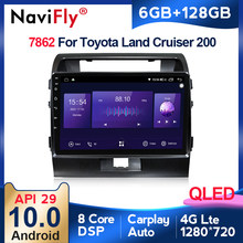 6G + 128G QLED 4G LTE Carplay Android 10 araba radyo Toyota Land Cruiser için 11 200 2007 - 2015 Autoradio multimedya GPS navigasyon