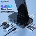 Coolreall tipo c telefone docking station titular USB-C para hdmi doca adaptador de energia para samsung s10 s9 dex estação huawei p30 p20 pro