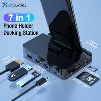 Coolreall Type C D'accueil pour Téléphone Station de support USB-C Vers HDMI Dock Adaptateur secteur Pour Samsung S10 S9 Station Dex Huawei P30 P20 Pro