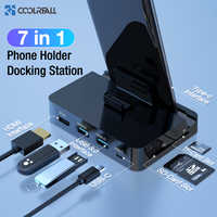 Coolreall Type C Phone Docking Station Holder USB-C To HDMI Dock Power Adapter For Samsung S10 S9 Dex Station Huawei P30 P20 Pro