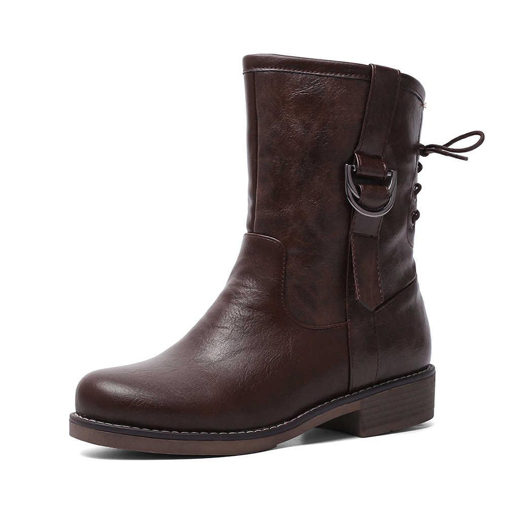 KARINLUNA ใหม่ขนาดใหญ่ 34-43 Elegant ข้อเท้ารองเท้าบู๊ตผู้หญิง 2019 ฤดูหนาวสบายๆส้นรองเท้าแพลตฟอร์มรองเท้าผู้หญิง