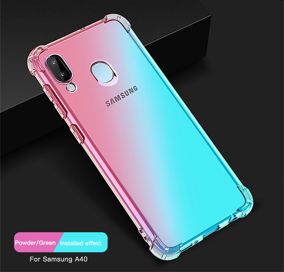!ACCEZZ Colorful For Samsung A40 A50 Soft Phone Case Protection Back Cover For Galaxy A50 A40 TPU Thin Phone Shell Fitted Case (8)